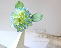 How to make zinnias paper flower from printer paper free template how to make hydrangea paper flower from printer paper so simple mightylinksfo
