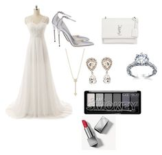 """""""Wedding day"""" by gc531 ❤ liked on Polyvore featuring Jimmy Choo, Yves Saint Laurent, EF Collection, Dolce&Gabbana and Burberry"""