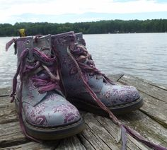 Dr Martens Special Customized Floral Boots, OOAK UK 4 US 6 | eBay