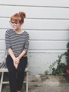 Stripes & cigarette trousers//
