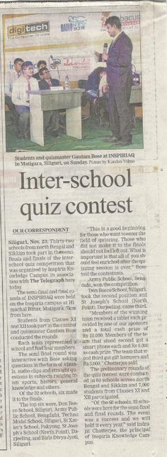 Quiz contest by Greycells was recently featured by The Telegraph.
