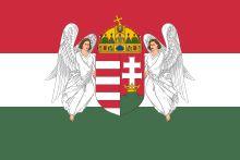 Drapeau hongrois (1867-1918) alors qu'elle faisait partie de l'Empire Austro-hongrois.