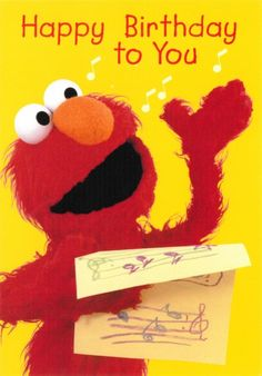 Discover and share Elmo Sesame Street Quotes. Explore our collection of motivational and famous quotes by authors you know and love. Elmo Birthday, Birthday Cards, Happy Birthday, Sesame Street Quotes, Elmo Sesame Street, Birthdays, Anniversary, Crafts, Future