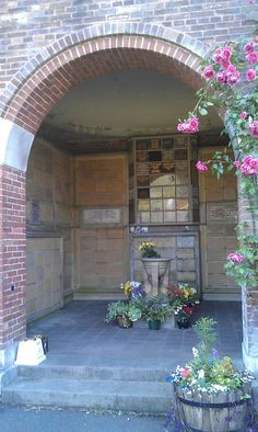 Inside one of the niches at the Manchester Crematorium