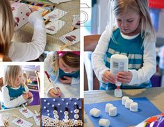 snowman collage w/marshmallows