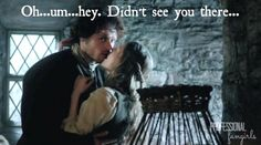 Outlander 1x03 Jamie Fraser and Laoghaire Kiss