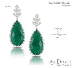 brand new #emeralddreams earrings!