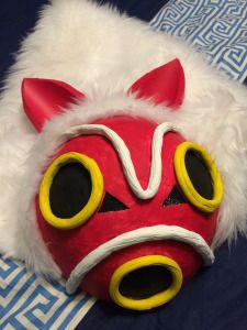 DIY Mask, Jewelry & Props for San, Princess Mononoke Cosplay via Bad Wolf Cosplay