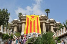 El Parc Güell, el diumenge abans de l'Onze de Setembre de 2013, la Diada de la Via Catalana