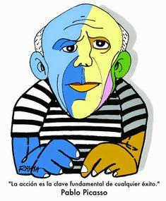 Pintores famosos: Pablo Picasso para niños. Cuadros para colorear. Caricaturas y fotos de Picasso. Vídeo-cuentos, Puzzles... Pablo Picasso, Picasso Collage, Guernica, Collage Portrait, Simple Portrait, Cubism, Elementary Art, Art Lessons, Art History