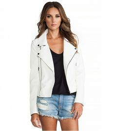 @Who What Wear - Lovers + Friends Babe Moto Jacket ($217) in White  We thought that this jacket couldn't get any better, but that was until we found out the sleeves are removable, allowing it to do double duty as a vest.