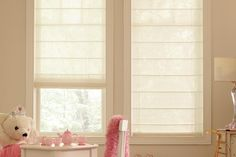 Kid's Window Treatments – Genesis® Roman Shade with CareRING Cordless Lift System #4kidssake #blindsafety