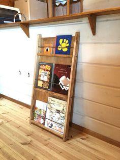 ラダー ブックシェルフ |本棚・絵本棚・マガジンラック|puutalo|ハンドメイド通販・販売のCreema