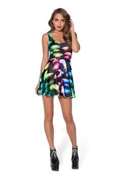 Witch Please  13th June 2014 - Jellyfish Rainbow Scoop Skater Dress (48HR) › Black Milk Clothing