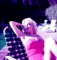 """Marilyn Monroe photographed by Harold Lloyd, 1953. """