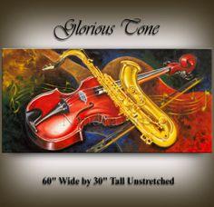 "Music Guitar Art ""Glorious Tone"" original modern painting by Nandita Albright Guitar Painting, Music Painting, Music Artwork, Art Music, Music Guitar, Abstract Paintings, Abstract Art, Modern Art For Sale, Violin Art"