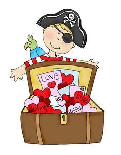 Free Dearie Dolls Digi Stamps: Pirate Valentines