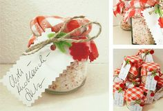 Chilli - Knoblauch -Salz Crafts To Do, Diy Crafts, Food Gifts, Advent, Dips, Place Cards, Presents, Place Card Holders, Sweets