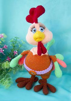 Купить Петушок Кирюшка - рыжий, подарок, интерьерная игрушка, петушок, петух…