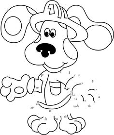 Blues Clues In Dress Up Dot To Dot - Printable Coloring Pages Nick Jr Coloring Pages, Alphabet Coloring Pages, Coloring Pages To Print, Printable Coloring Pages, Blues Clues, Connect The Dots, Little Brown, How To Find Out, Dress Up