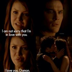The vampire diaries.  Damon and Elena