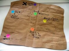Treasure map idea.  Site does a verse treasure hunt.  Could be adapted.