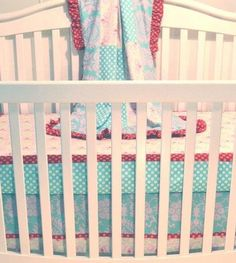 Love the colors of this bumper-less crib by Persnickety Lily Matilda