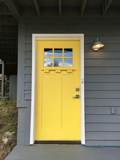 Yellow and Gray Design with Paint | Benjamin moore yellow, Yellow ...