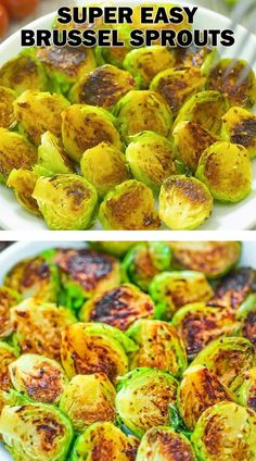 Pan Fried Brussel Sprouts, Cooking Brussel Sprouts, Vegan Brussel Sprout Recipes, Brussels Sprouts, Veggie Recipes, Vegetarian Recipes, Cooking Recipes, Vegan Vegetarian, Simple Vegetable Recipes