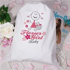 Personalized Flower Girl Sports Bag | Personalized Wedding Party Sports Bag | GiftsForYouNow.com