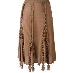 Romeo Gigli Vintage ruffled trim skirt