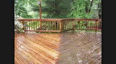 Cleaning an old and tired timber deck by Waterworx Pressure Cleaning ready for oil.