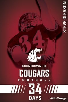Countdown to Cougars Football - 34 Days #GoCougs