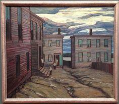 """""""Black Court, Halifax"""" by Lawren S. Harris."""