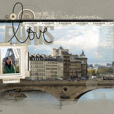 #papercraft #scrapbook #layout #Travel Love Paris