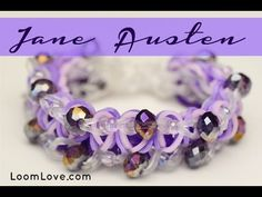 How to make a Jane Austen Rainbow Loom Bracele Rainbow Loom Tutorials, Rainbow Loom Creations, Rainbow Loom Bands, Rainbow Loom Bracelets, Bracelet Crafts, Jewelry Crafts, Monster Tail, Crazy Loom, Loom Craft