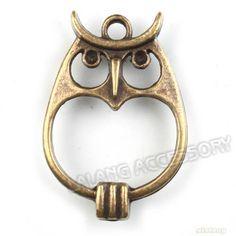 20x 142239 Wholesale Antique Bronze Owl Charms Connector Pendants Findings | eBay