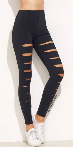 Black Ripped Skinny Leggings