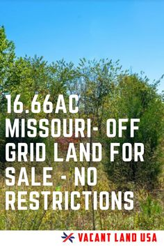 Boom! Finally some beautiful land with no restrictions! YES- that means you can do whatever you want! Camping- OK RV- OK Trailer-OK Off grid homestead- OK Cabin- OK No permits required!  whoo- hoo... Just out of Raymondville Missouri- Check it out asap before its sold!