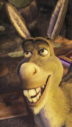 Donkey (Eddie Murphy) -- from Shrek Burro Do Shrek, Shrek Donkey, Dreamworks Animation, Disney And Dreamworks, Disney Animation, Cartoon Movies, Movie Characters, Disney Movies, Shrek Character
