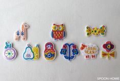 【セリア】 北欧風ワッペンB 3個入り  JAN:4580150482018 Embroidery, Accessories, Drawn Thread, Cut Work, Needlepoint, Stitch, Needlework, Embroidery Stitches, Ornament