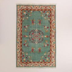 Boho Hand-Knotted Wool Lille Area Rug | World Market