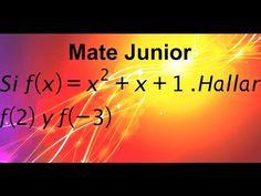 Evaluacion de funciones Suscribete a mi canal Matejunior de youTube