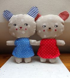 ba188936819 Růža a Božka na vycházce - látková hračka   Zboží prodejce Čuchi