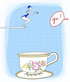 From Uniquely Tea I Love Coffee, Coffee Break, Coffee Time, Thé Illustration, Tea Quotes, Caffeine Addiction, Teapots And Cups, Fun Cup, Tea Art