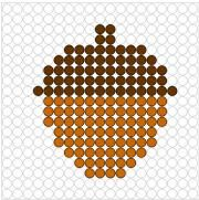 Deze kralenplank en vele andere in het thema herfst kun je vinden op de website van Juf Milou. Beaded Flowers Patterns, Hama Beads Patterns, Beading Patterns, Fuse Beads, Perler Beads, Cross Stitch Designs, Cross Stitch Patterns, Motifs Perler, Autumn Activities For Kids