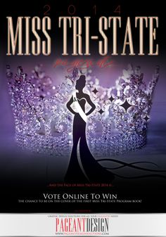MISS TRI-STATE PROGRAM BOOK COVER | We offer graphic design solutions for all your pageantry needs! | Pageant Ads / Pageant Program Books / Websites / Pageant Promo Flyers & Items + more! | for samples and prices check out: http://www.pageantdesignsolutions.com/
