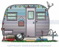 Vintage Camper Drawings 28537
