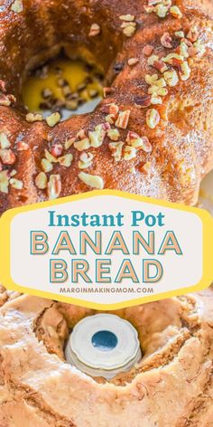 Have you tried making baked goods in your Instant Pot yet? This Instant Pot banana bread is the perfect way to start! No need to heat up your oven! Peanut Butter Banana Bread, Make Banana Bread, Banana Bread Recipes, Cake Recipes, Dessert Recipes, Desserts, Instant Pot Pressure Cooker, Pressure Cooker Recipes, Instant Pot Cake Recipe