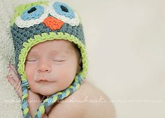 CUDDLES Handmade Owl Hat...Baby, Toddler, Child...Photography Prop